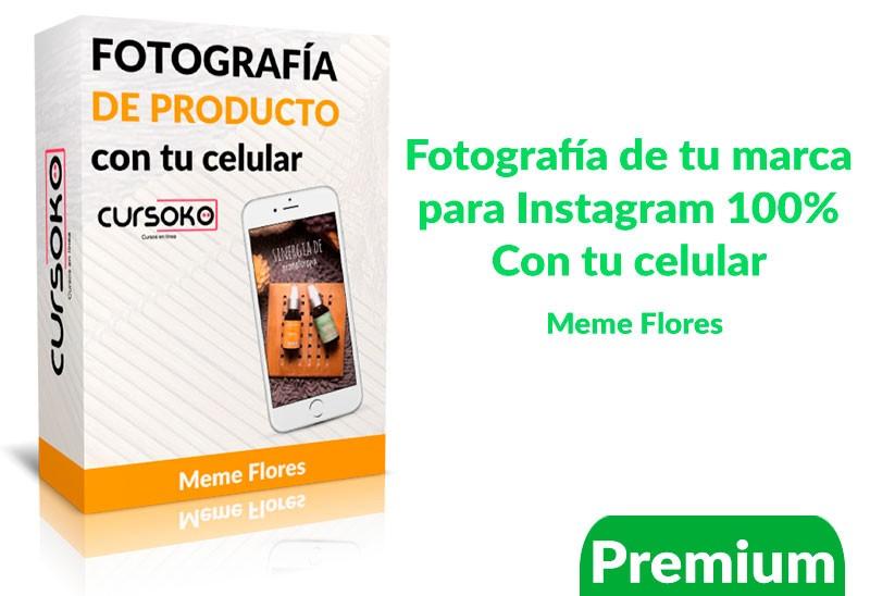 Curso de fotografía de tu marca en Instagram 100% con tu celular – meme flores